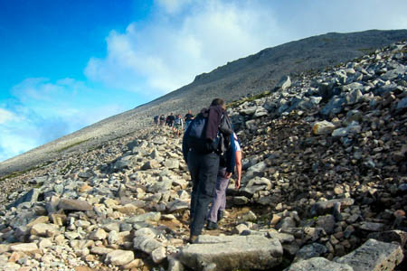 Walkers may be asked to pay a pound to pound the Ben Nevis zigzags
