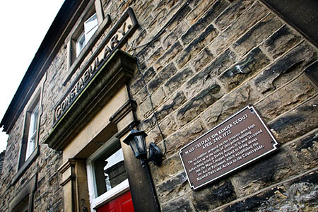 The New Mills police building where the Kinder Scout trespassers were held