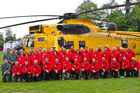 The North East Wales Search and Rescue team. Photo: Gerald Davison