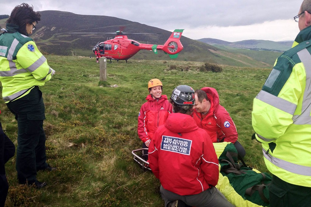 The Newsar team in action on Moel Famau. Photo: Newsar