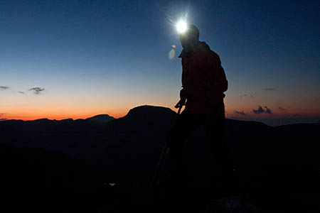 A headtorch is essential for trips on to the hills as daylight gets shorter