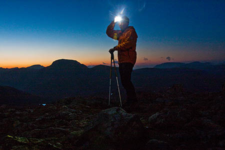 A headtorch is essential as daylight hours shorten
