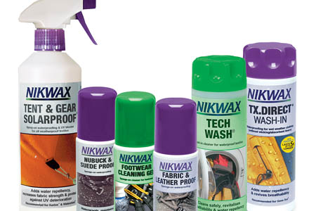 The approved Nikwax products