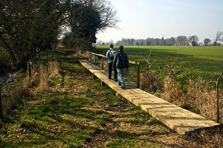 Walkers on a footpath near the Peddars Way, east of the Stanford training area. Photo: Katy Walters CC-BY-SA-2.0