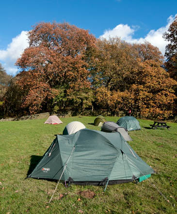 The campsite at North Lees will benefit from improvements