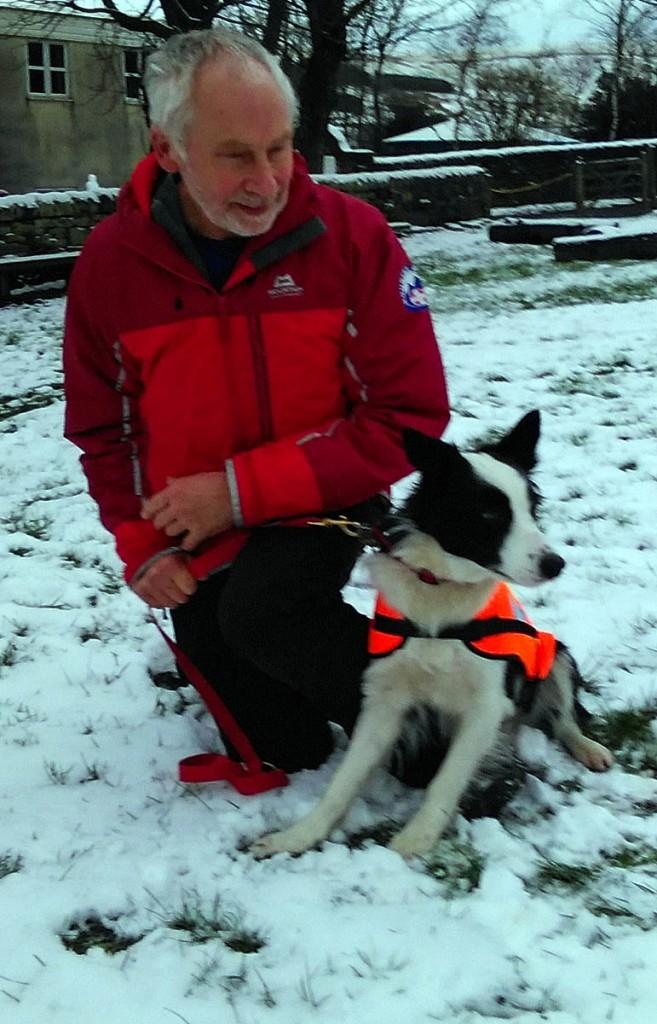Tess with her handler Brian Allport