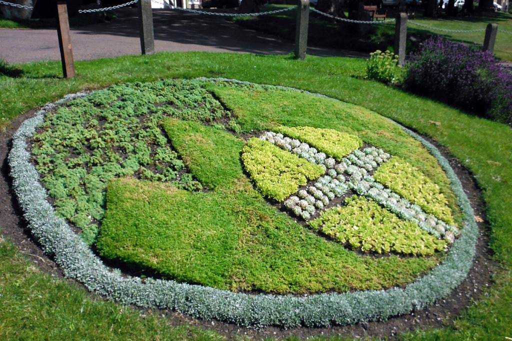 The floral display in Rothbury marks the rescue team's 50th anniversary