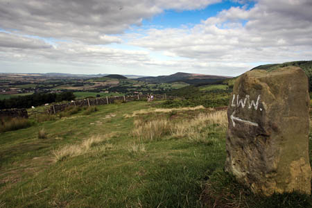 On the route of the Coast to Coast walk and the Lyke Wake Walk in the North York Moors national park