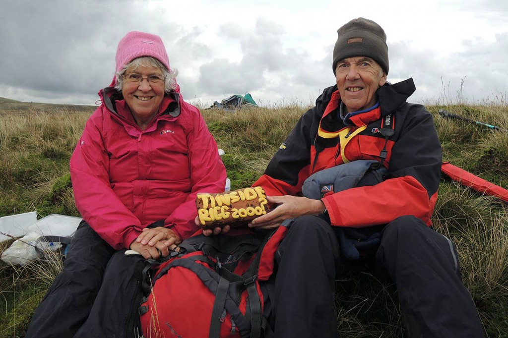 Anne and John Nuttall on Tinside Rigg. Photo: G&J Surveys