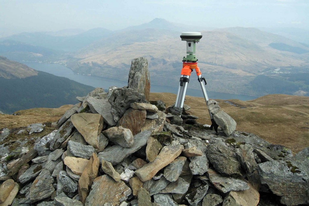 The team's GPS surveying equipment on the summit of Cnoch Coinnich. Photo: G&J Surveys