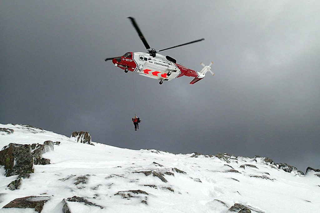 Coastguard helicopters joined the rescue operation. Photo: Oban MRT