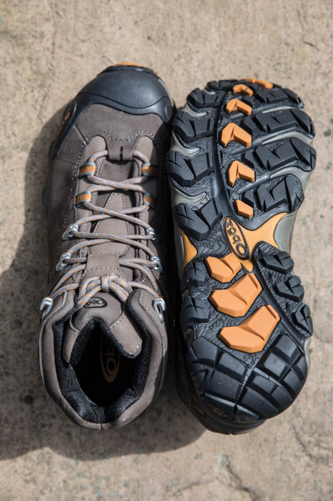 Oboz Bridger Mid Waterproof uppers and sole. Photo: Bob Smith/grough
