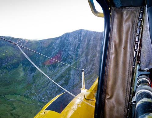 A shot of the crag taken by rescuers from the RAF helicopter