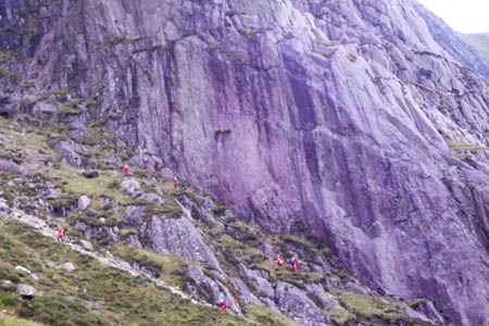 The two women had climbed up the Idwal Slabs. Photo: Ogwen Valley MRO