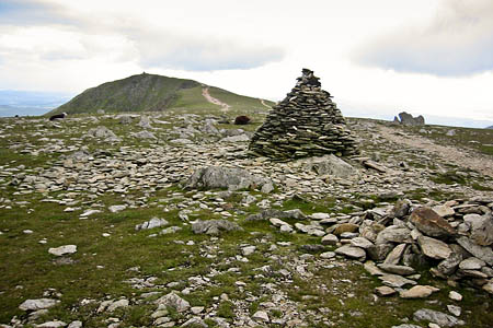 The woman was rescued from the footpath between the summit of the Old Man of Coniston and Goat's Hawse
