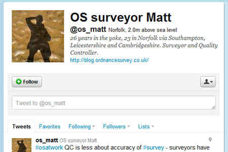 OS surveyors are not Tweeting about their work