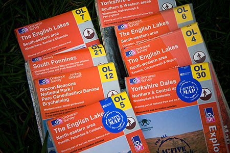 Ordnance Survey paper maps and digital mapping used by many outdoors enthusiasts