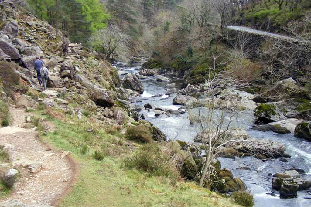The man got into difficulties in the Pass of Aberglaslyn. Photo: Phil Champion CC-BY-SA-2.0
