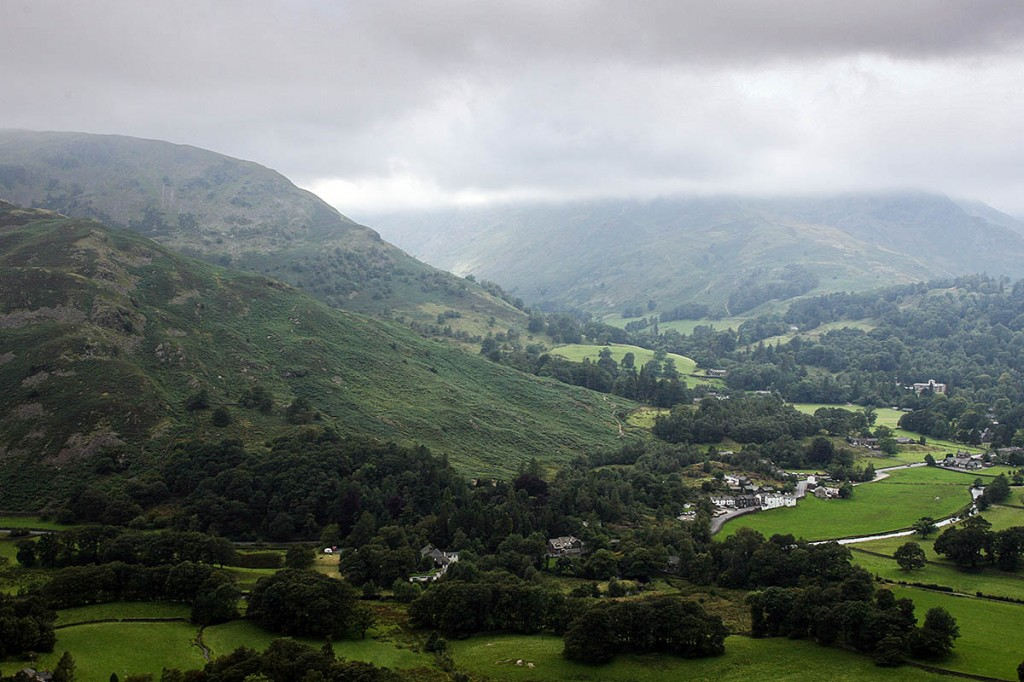 Patterdale, where rescuers fielded three simultaneous callouts on Saturday afternoon