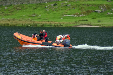 Patterdale team members used their boat in the search