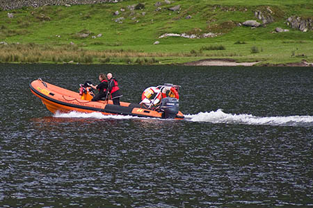 Patterdale MRT's rescue boat was used to reach the injured walker