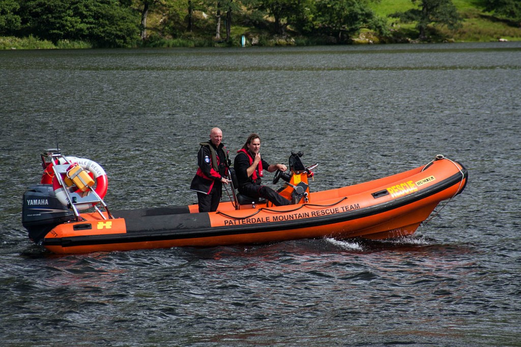 Patterdale MRT used its rescue boat to reach the walker