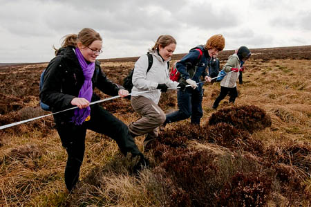Students from Long Eaton School at work near Stanage
