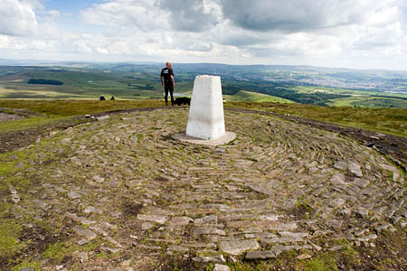 Pendle Hill's summit