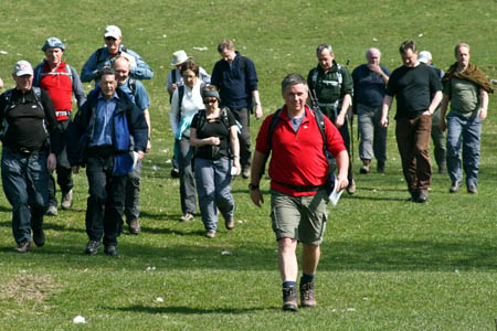 Walkers at Feizor during the launch event