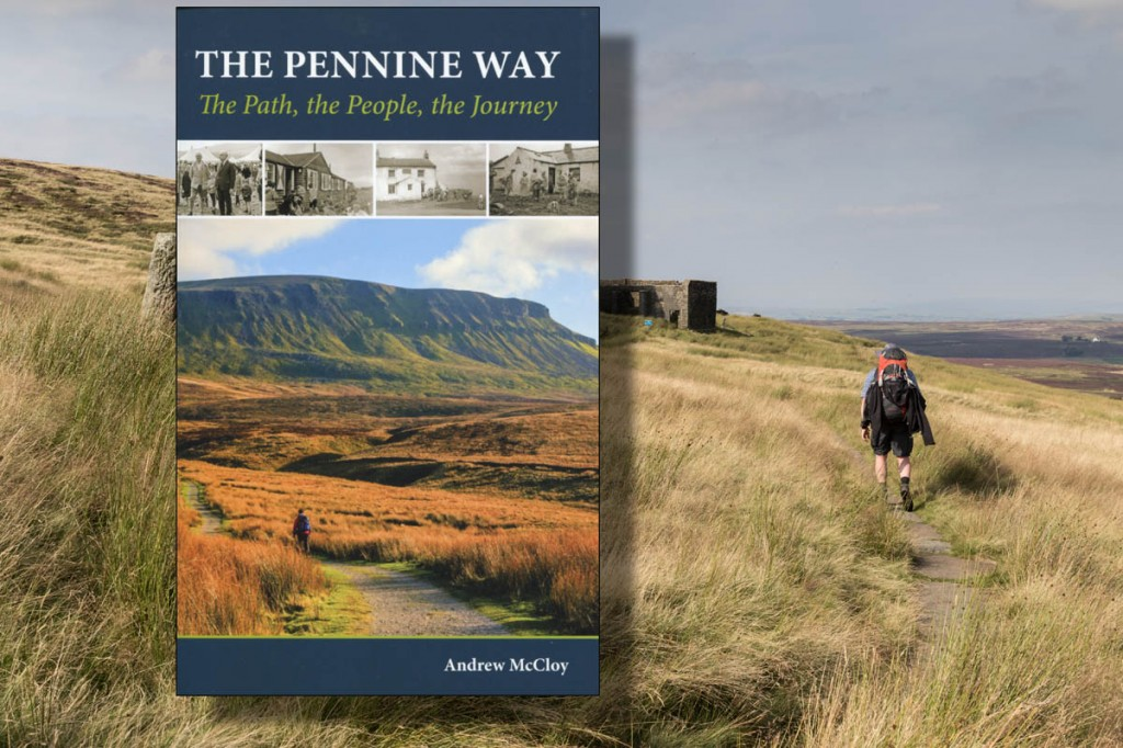 The cover of Andrew McCloy's book. Main picture: the Pennine Way. Photo: Bob Smith/grough