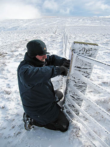 Workers have had to contend with harsh winter conditions. Photo: NNPA