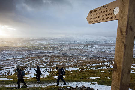 National trails such as the Pennine Way bring economic benefits to the areas they pass through, the minister said