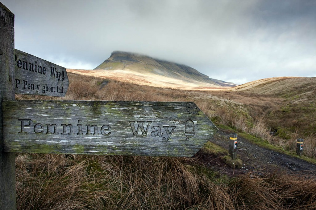 The Pennine Way on the approach to Pen-y-ghent in the Yorkshire Dales