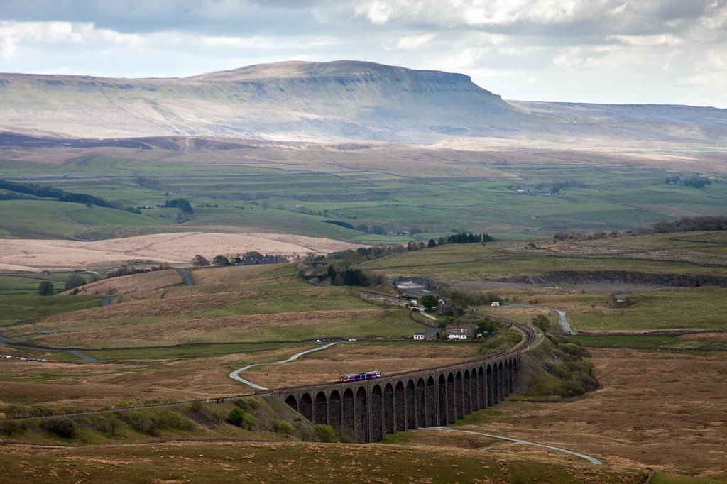 The woman was walking between Pen-y-ghent and Ribblehead