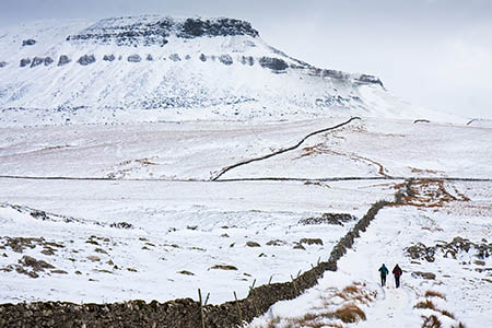 The woman slipped on snow on the summit of Pen-y-ghent
