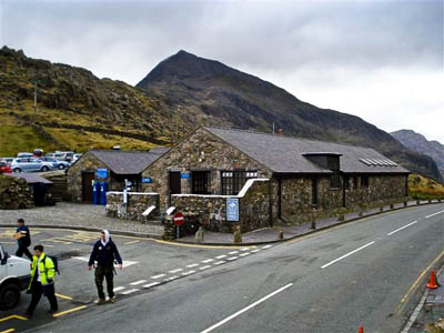 The £1 buses call at the overpopular Pen y Pass car park, start point for may Snowdon ascents