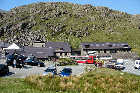 Pen y Pass, starting point for many Snowdon expeditions. Photo: Eric Jones CC-BY-SA-2.0