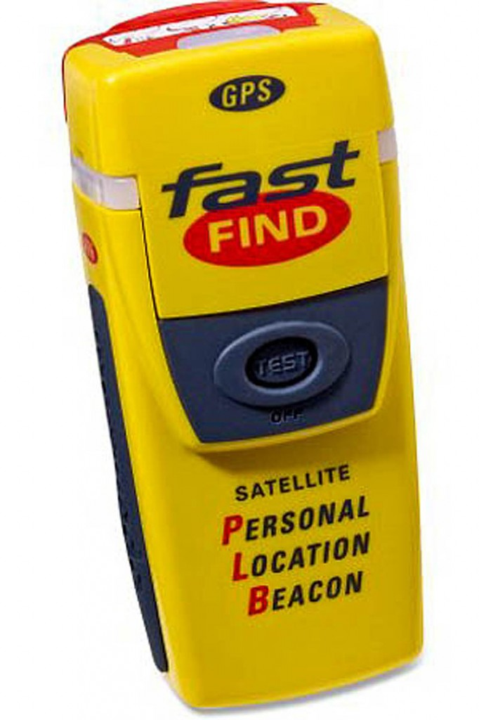 Personal locator beacons are similar in size to handheld GPS units