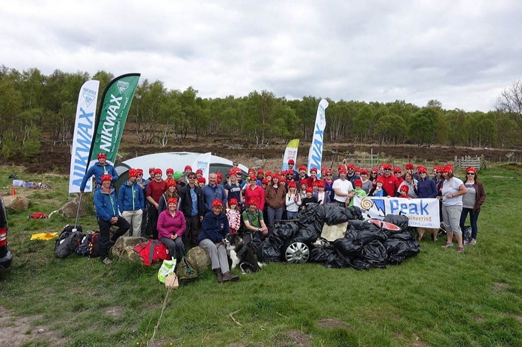 Volunteers collected a small mountain of rubbish during the event