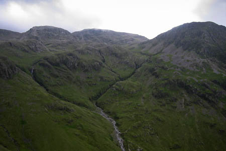 The walkers were found below Criscliffe Knotts, close to Piers Gill