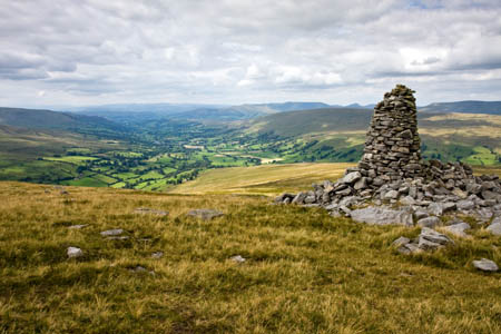One of Pike's cairns, with Dentdale beyond