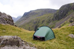 Wild camping near the Black Sail Pass