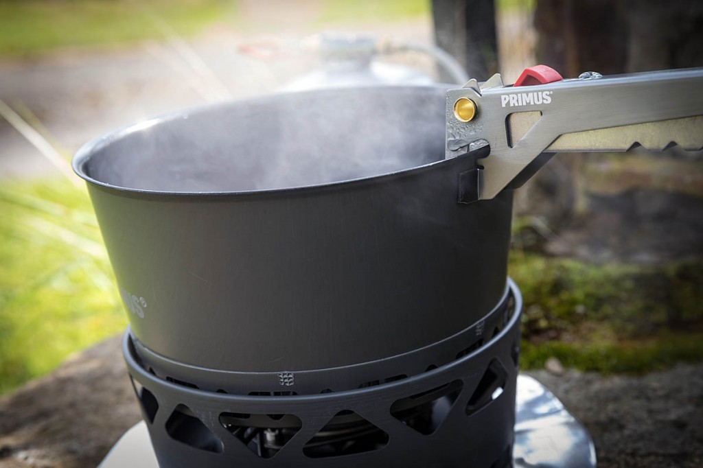 The Primus PrimeTech Stove Set in action. Photo: Bob Smith/grough