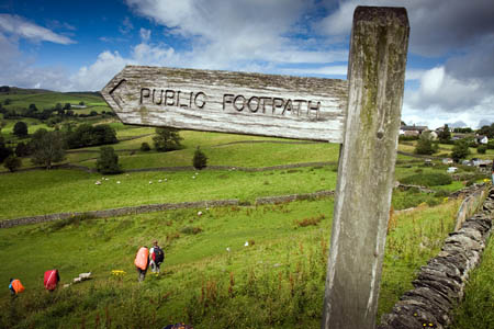 Not all public footpaths are recorded on the definitive maps
