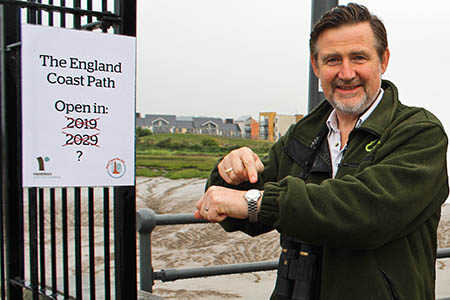 Time for action: MP Barry Gardiner on watch duty at Portishead