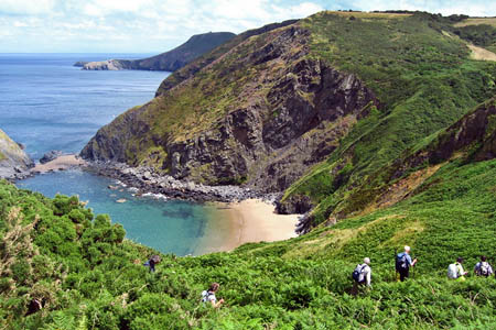 The Ceridigion coast forms part of the route. Photo: David Bateman
