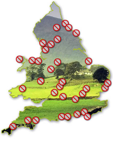 The Ramblers map of inaccessible Britain