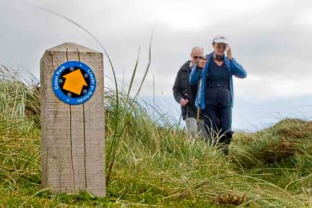 The Wales Coast Path has been waymarked. Photo: Andrew Morgan
