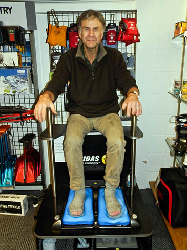 Sir Ranulph Feinnes has his Sidas insoles fitted before his Coldest Journey expedition