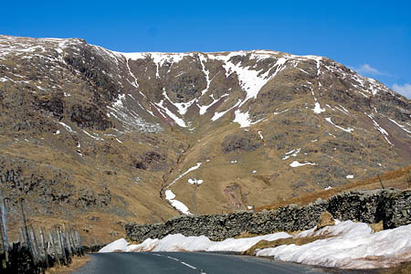 Snow is likely to cause difficulties for motorists on the Kirkstone Pass
